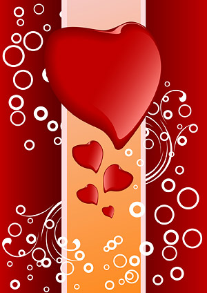 Heart-shaped vector material-5