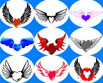 Heart-shaped vector material-6