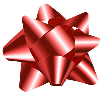 Red Ribbon Ball Vector