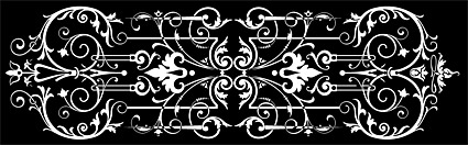 black and white pattern vector material