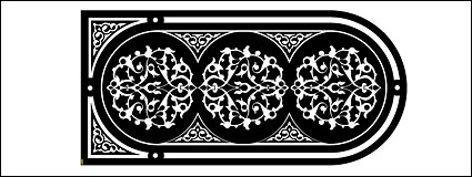 black and white pattern vector material-2
