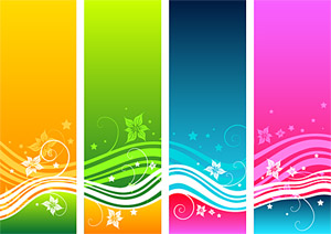 Dynamic fashion color pattern vector material