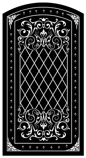 black and white pattern vector material-3