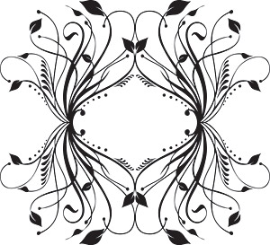 Fashion black-and-white pattern element vector material