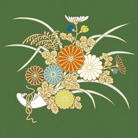 Vector traditional pictorial series  3-Flower plants