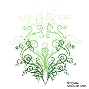 Green pattern vector material