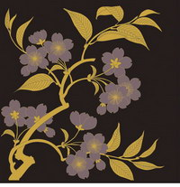 Vector traditional pictorial series  1-Flower plants