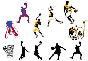 Basketball theme vector material