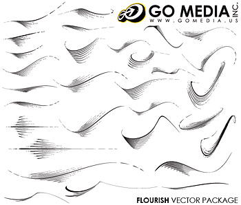 Go Media produced vector material (set8) - Line