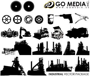 Go Media produced vector material (set8) - builder
