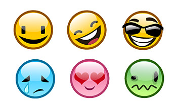 Lovely expression vector icon material