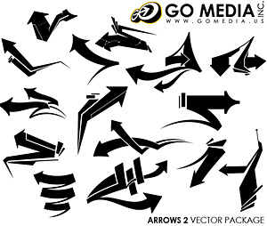Go Media produced vector material (set8) -arrow