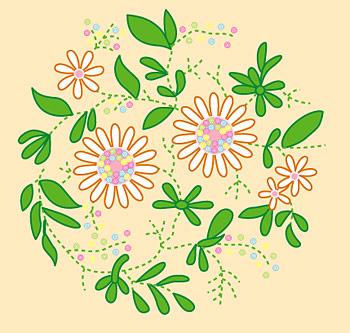 Vector material cartoon flowers