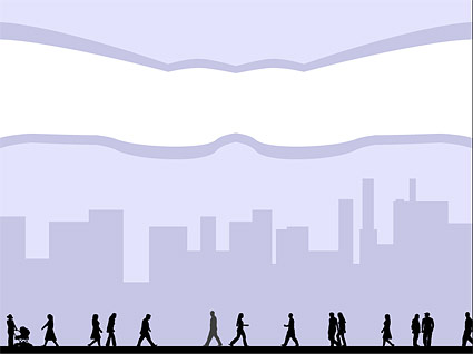 City figures vector material