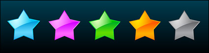 web 2.0 style stars vector material