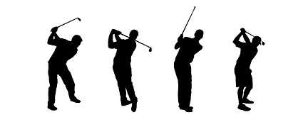 Golf figure silhouettes vector
