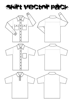 Vector line drawing shirts