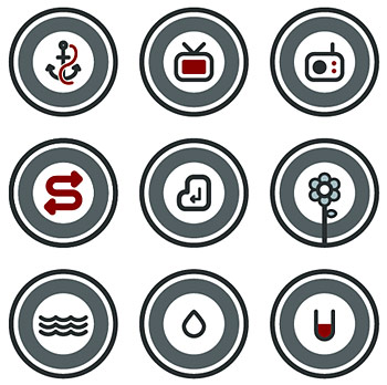 Vector round cartoon icon
