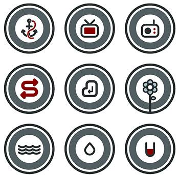 Vector round cartoon icon