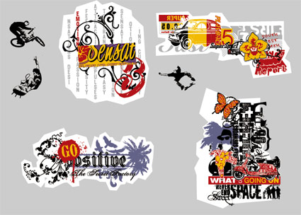 Movement and the street culture vector material-20