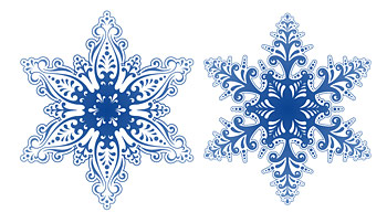 beautiful snowflakes vector material