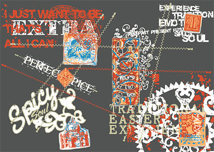Sports and cultural elements of street trend of vector material-3