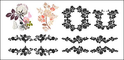 Practical lace pattern vector material-2