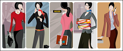 White-collar female vector material