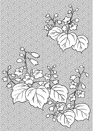 Vector line drawing of flowers-29