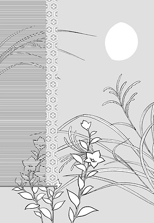 Line drawing of flowers -8