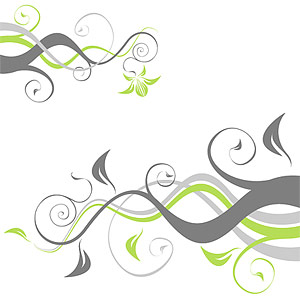 Plants and rattan pattern element vector