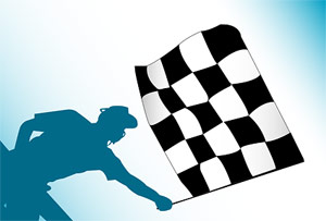 F1 banner of vector material