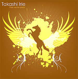 The trend of wings and horses element vector material
