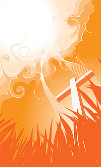 Cross and smoke vector material