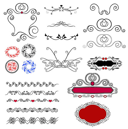 practical exquisite lace pattern vector material