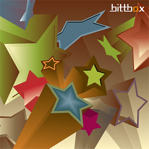 3D vector background material stars