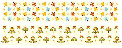 Cute little flowers vector material