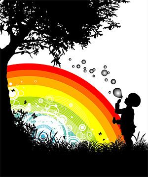 Rainbow vector material