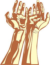 People hands vector material