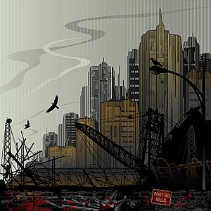 Vector urban construction sites