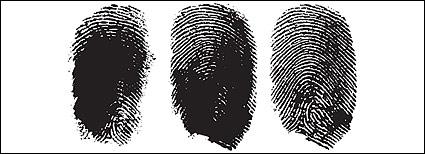 Vector finger fingerprint material