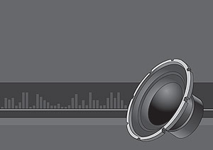 Stereo speakers vector material