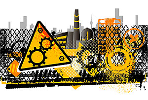 Vector material construction sites