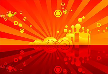 Red theme vector