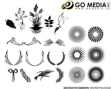 Go Media produced vector material - Continental lace patterns and radio