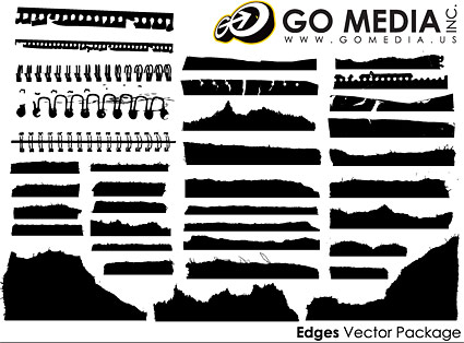 Go Media produced vector material - all kinds of paper silhouettes
