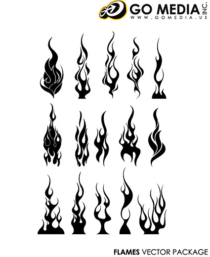 Go Media produced vector material - cool flames