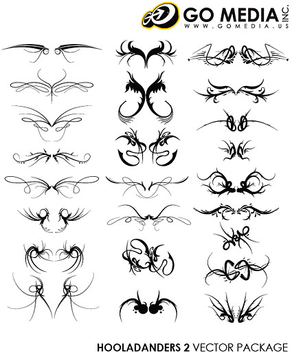 Go Media produced vector material - cool wings