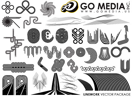 Go Media produced vector material - a combination of lines
