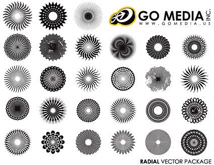 Go Media produced vector material - circular logo